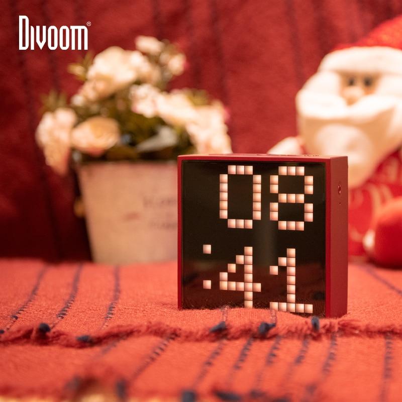 Nieuwe Divoom TIMEBOX EVO Bluetooth Draadloze Speaker Pixel Smart multifunctionele Audio wekker voice memo Ondersteuning APP gift - 3