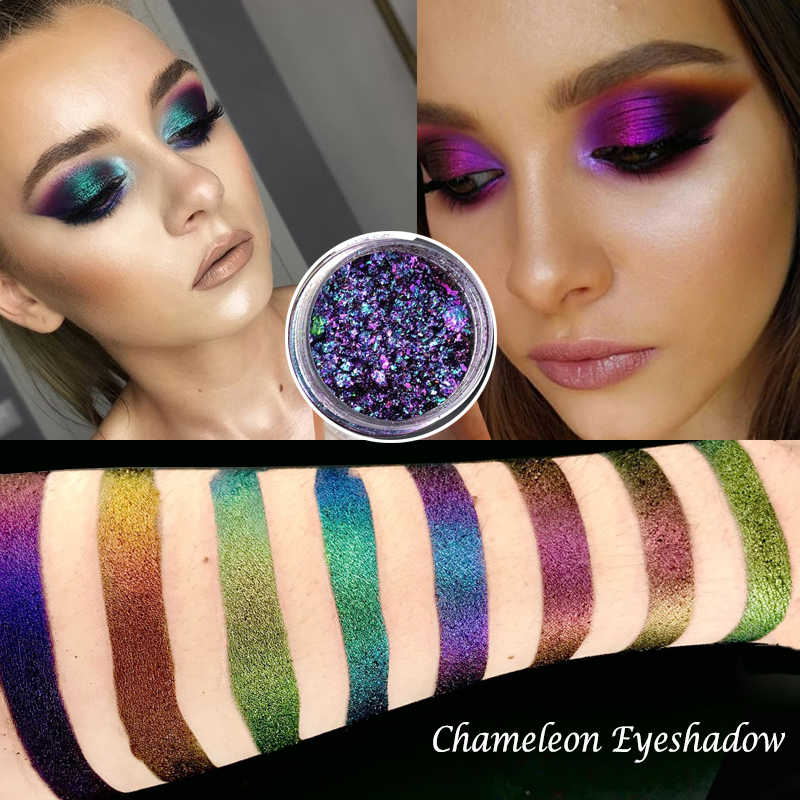 0.2G Hot Bunglon Pigmen Bunglon Eyeshadow Multi Chrome Eyeshadow Prismatic Eye Langit Lahir Mengkilap Glitter Eyeshadow Palet