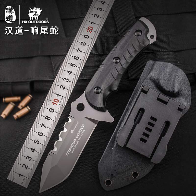 HX outdoor outdoor knife hunting high hardness fixed blade survival camping knife hand tools brand tactical straight knives hx outdoors survival fixed knife bamboo handle camping knife black blade saber tactical tools cold steel hunting straight knife