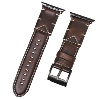 Genuine Leather Watch Strap For Apple Watch 4 Strap Iwatch Band 38mm 40mm Replacement Wrist Bracelet Handmade Stitching Strap #B