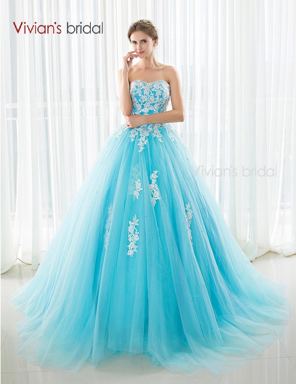 Tienda Online Princesa vestidos de novia azul Cenicienta Weding ...