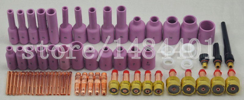 Free shipping TIG Gas Lens KIT,Back Cap Collet Body Fit TIG Welding Torch SR WP17 18 26,67PK электрорубанок makita 1911b