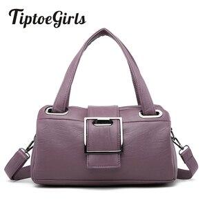 Image 1 - Bolso de mano para mujer con forma de almohada, morados, populares, estilo americano, sencillo, informal, con personalidad