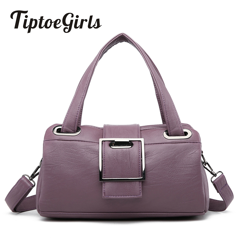 Fashion Pillow Women Handbags American Popular Purple Bag New Simple Leisure Lady Shoulder Bag Casual Personality Messenger Bag