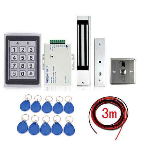 Electric Door Lock Magnetic Access Control ID Card Password Security System Kit