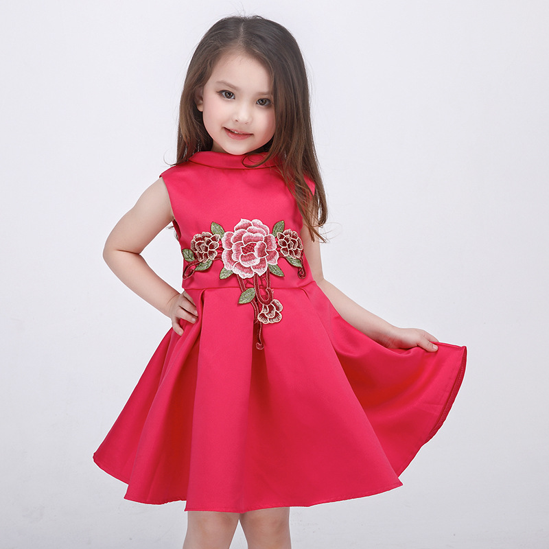 c95694cc5 Spring and summer girls dress High end European and American small ...