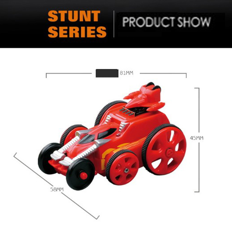 RC Double-Sided Stunt Car 2.4G remote control car With Light 360 degrees rotating trolley Plastic Car Model For Children Gift