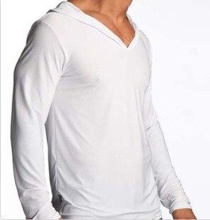 Мужское Нижнее Белье Досуг Lounge рубашка С Капюшоном Сексуальная Мери Мягкий Шелк мужская Lounge Сон мужчины топ