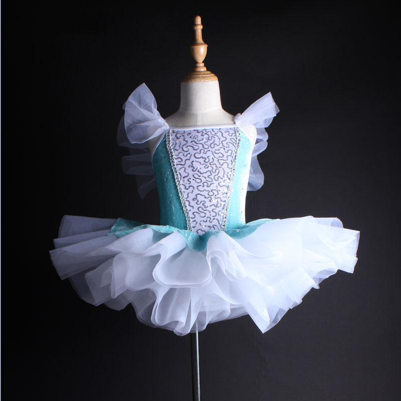 все цены на 2018 Sky Blue Ballet Dress Girls Ballet Women Professional Ballet Tutu Gymnastics Dress For Girls Ballerina Dress Kids DN1051