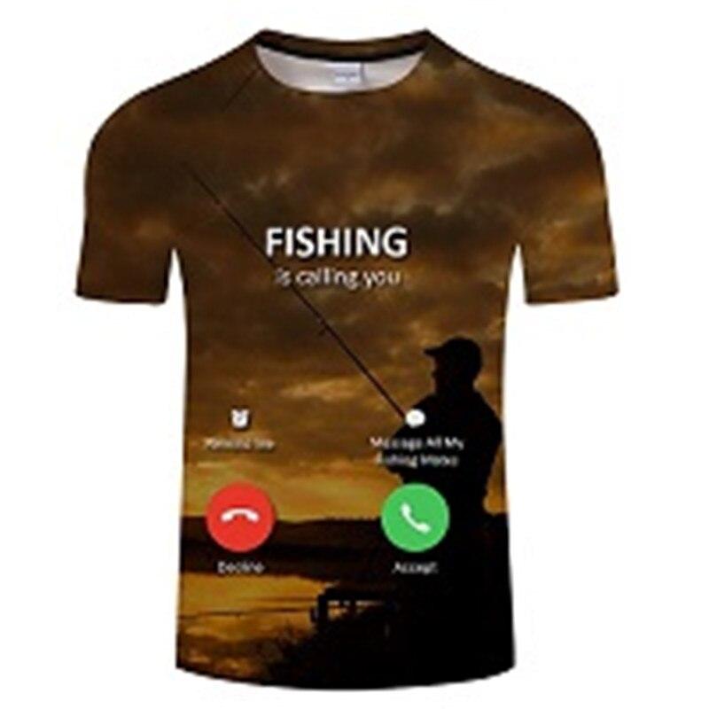 Новая футболка для рыбалки, стильная повседневная футболка с цифровым 3D принтом рыбы, мужская и женская футболка, летняя футболка с коротким рукавом и круглым вырезом, Топы И Футболки S-6XL - Цвет: TXKH443