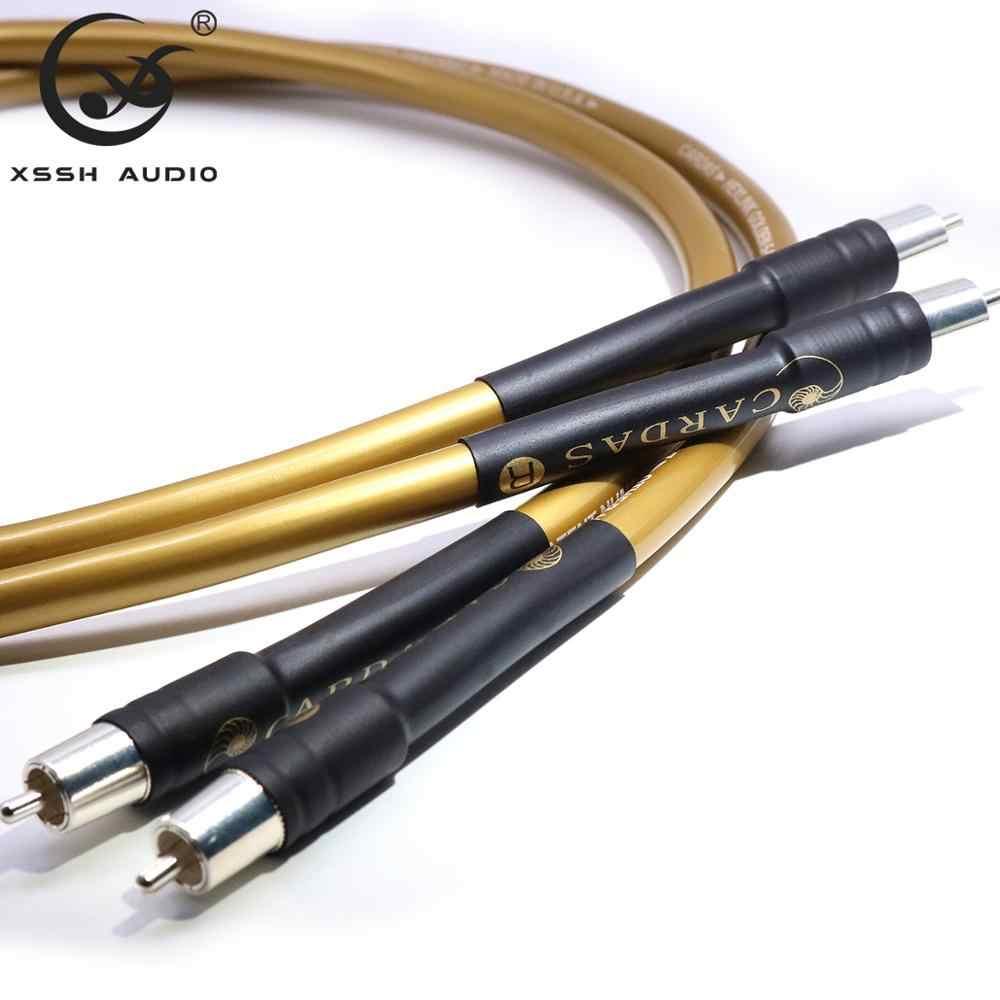 CARDAS GOLDEN5-C 1 пара RCA к RCA Hi-end усилитель мощности OFC чистое серебро покрытое медью 10 мм 2RCA to2 RCA аудиокабель провода