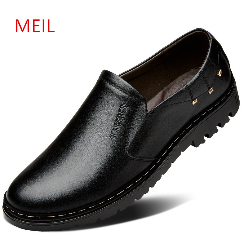 Hot Sale Casual Leather Slip-on Shoes Men Loafers Fashion Chaussure Homme Luxe Breathable Driving Shoes Man Casual Boat Shoes men leather boat shoes vintage lace up casual driving shoes man fashion flats chaussure homme large size 46 loafers zapatillas