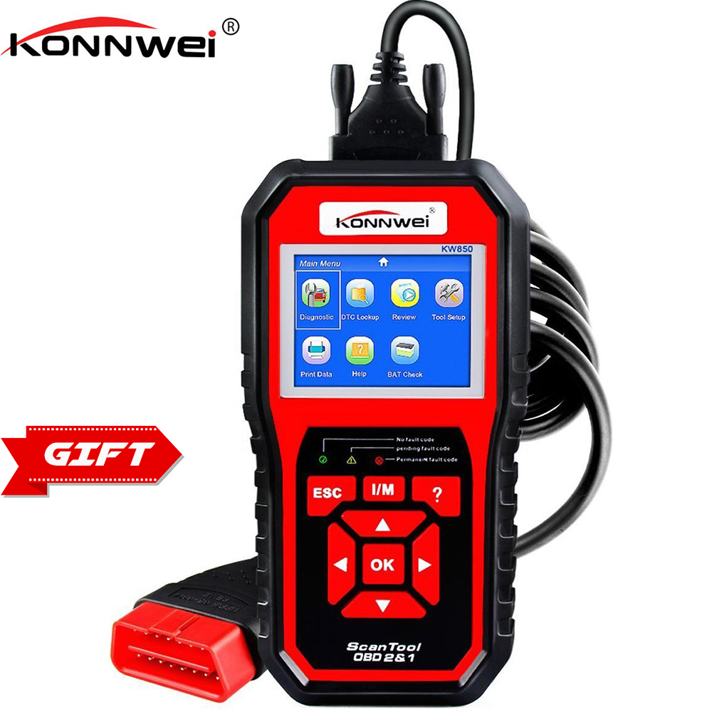 KONNWEI KW850 OBD2 OBD 2 Automotive Code Scanner Multi-languages Auto Car Diagnostic Tool in Russian Better than NT301 AD510 wifi obd obdii car diagnostic scanner tool code reader for iphone6 6plus ipad