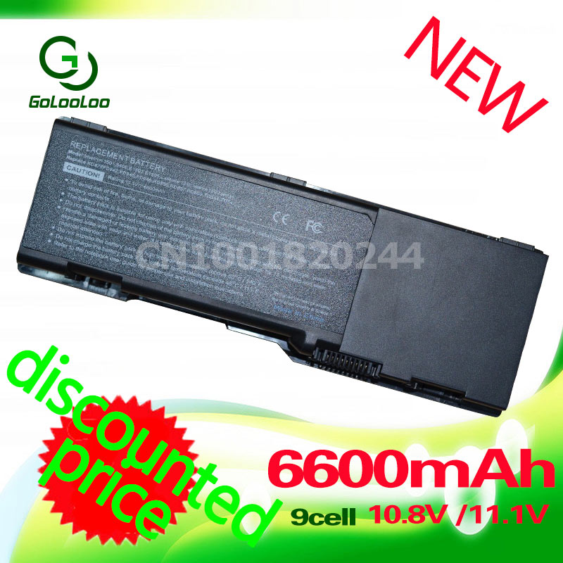 Golooloo 9 Cells 6600MaH Laptop Battery for <font><b>Dell</b></font> <font><b>Inspiron</b></font> <font><b>1501</b></font> 6400 E1505 for Latitude 131L for Vostro 1000 312-0427 312-0428 image