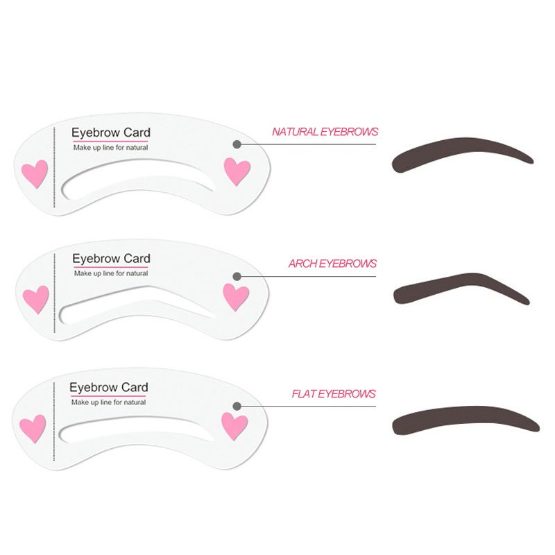 3Pcs Eye Makeup Thrush Card Threading A Word Eyebrow Makeup Tools Artifact Thrush Aid Card Eyebrows Mold Cosmetic New 2018