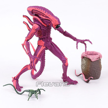 NECA ALIENS Red Alien Covenant 1990 Game Aliens Warrior with Chestburster & Facehugger PVC Action Figure Collectible Model Toy