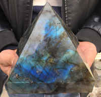 2400g Large Natural Labradorite quartz gemstone crystal pyramid point reiki healing miner stones