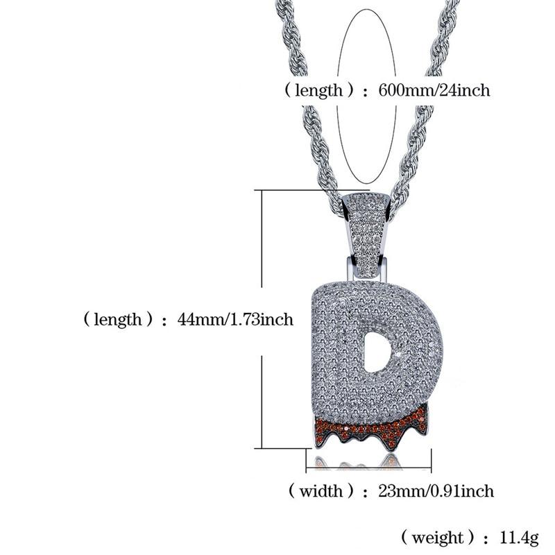 bubble letter necklace40