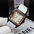 Ancient European fashion simple white lady lady durable silicone watch strap watch fashion retro fashion square