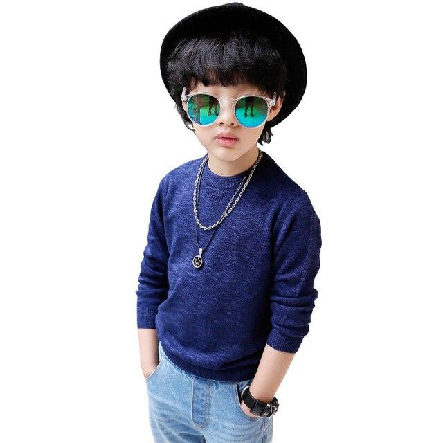 In 2017 new spring children children sweater sweater knit sweater Korean kids boys 6507