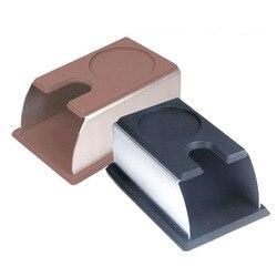 10 sztuk ze stali nierdzewnej silikonowe Espresso ubijak do kawy stojak narzędzie baristów ubijania uchwyt Rack półka ekspres do kawy narzędzie ZA4427