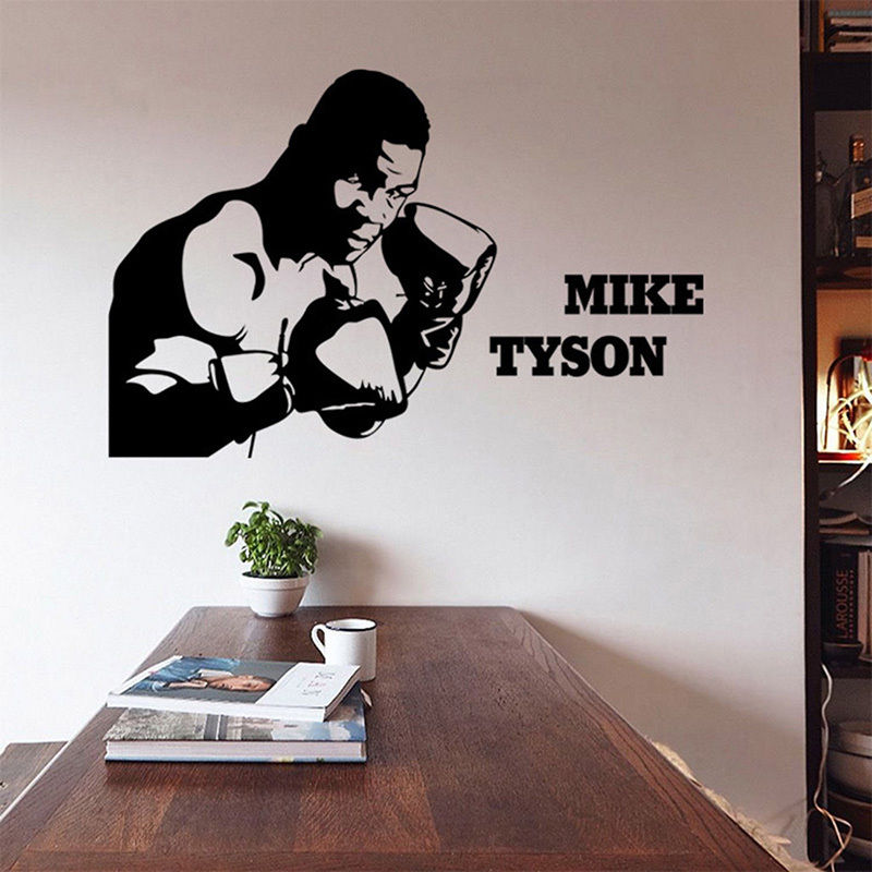 Free Shipping 85X130 BIG SIZE Mike Tyson Boxing Fighting Sport Removable Wall Sticker Art Decal Boy Room Decor KW-326