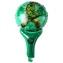 XXYYZZ handheld Captain America Shield foil balloons Avengers Alliance superhero Hulk globos birthday party decoration child Toy(China)