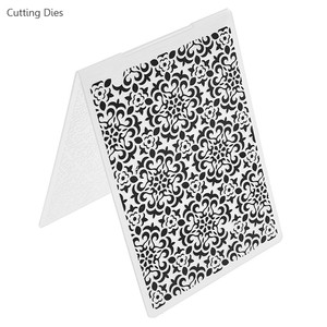 2019 New Flower Plastic Embossing Folder Stencils Template Scrapbooking DIY Paper Crafts Photo Album Home Decoration
