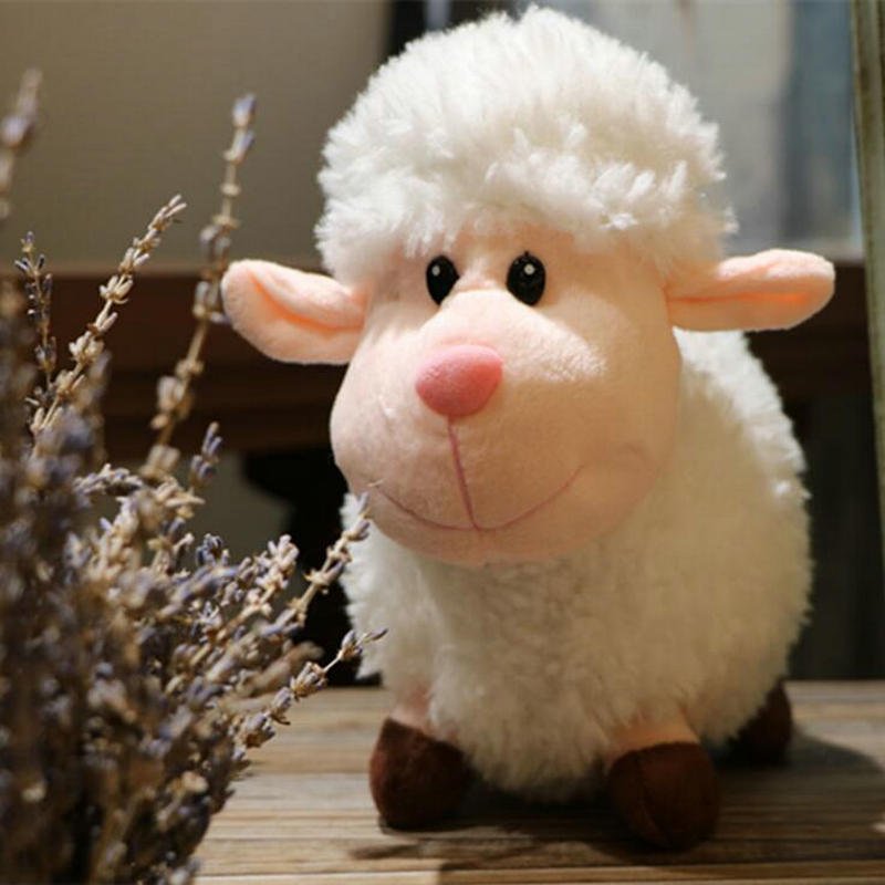 Export Korea Market High Quality Long Plush Sheep Stuffed Animal Plush Simulation Lamb Doll Toys For Children Room Decor Present