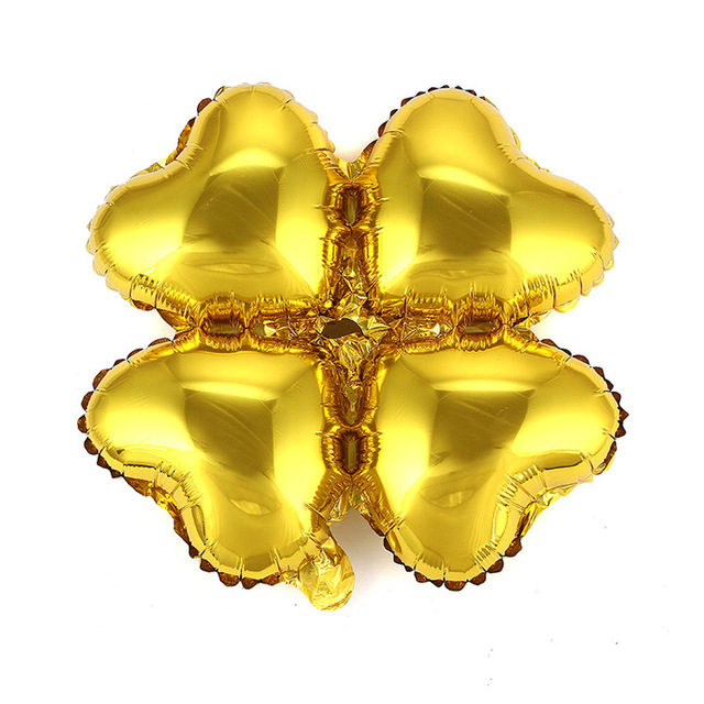 US Seller Four Leaf Clover Aluminum Balloon Round  Petals Foil Balloons For W...