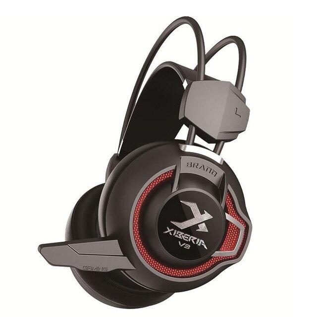 Xiberia V3 Игровые Наушники Super Bass Шлем Pc Gamer Gaming Headset Вибрации Света Наушники С Микрофоном Для Компьютера