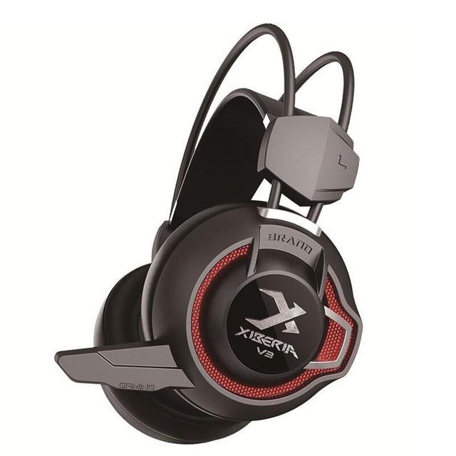 Xiberia V3 Gaming Casque Gamer Fones De Ouvido Super Bass Fones De Ouvido Com Microfone Para Computador Pc Gaming Headset Vibração de Luz