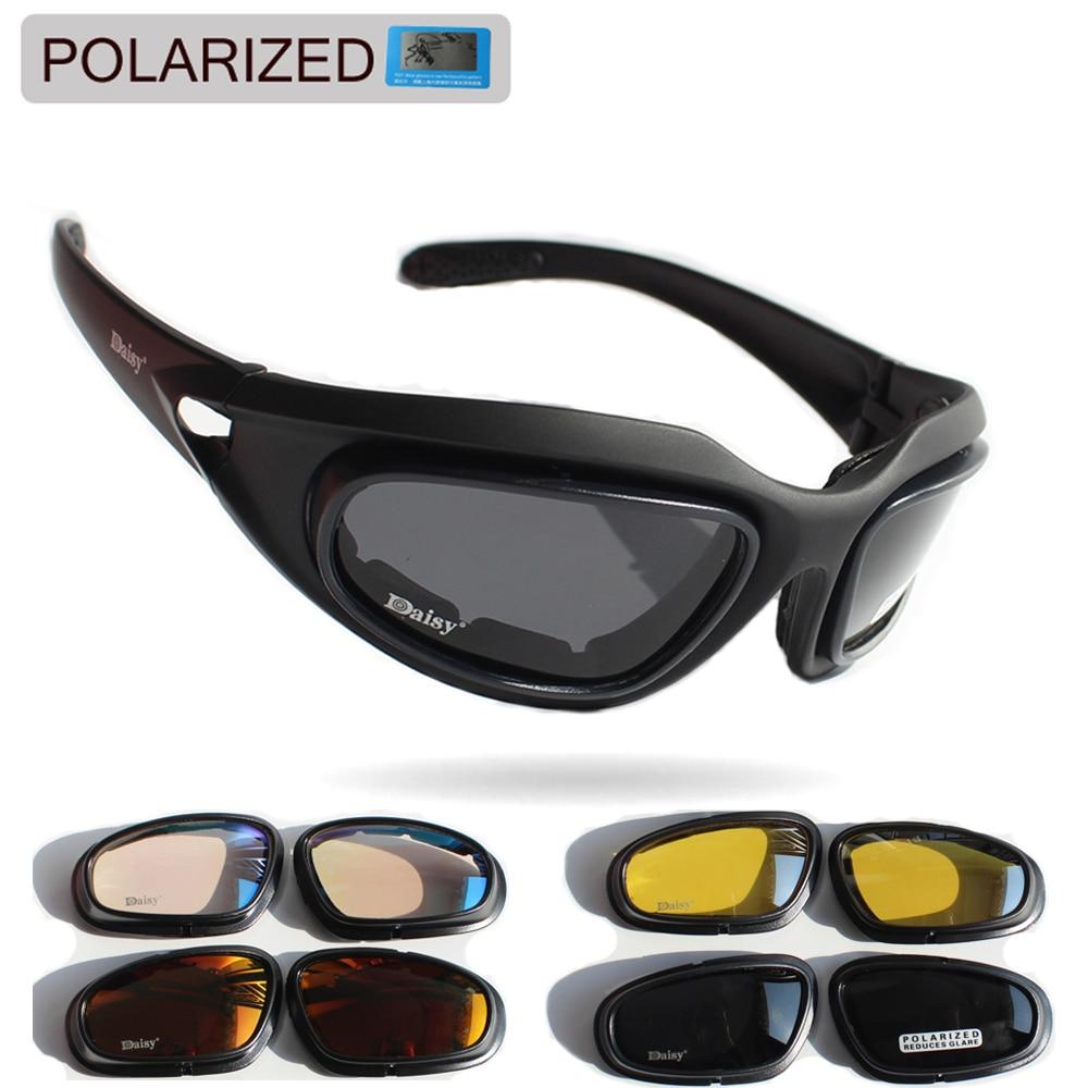 Tactical C5 Glasses Military Goggles Army Sunglasses+4 Polarized Lens Eyewear 1x