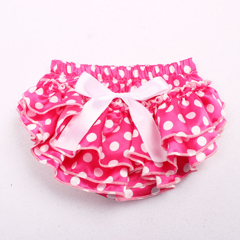 11 Colors Baby Girl Satin Silk Bow Dot Nappy Shorts Boy Briefs Summer Bottom Pants Diaper Covered Bloomer Infant Photo Props