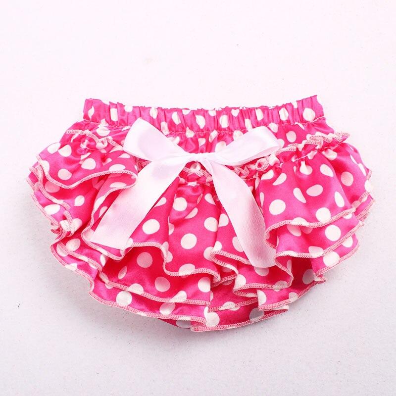 11 Kleuren Baby Meisje Satin Zijden Boog Dot Nappy Broek Jongen Slips Zomer Bottom Broek Luier Bedekt Bloeier Baby Photo Props