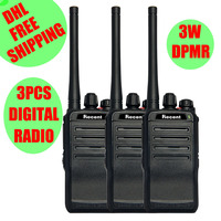 DHL 무료 3 개 디지털 모바일 라디오 308D dPMR 그룹 통화 무전기 토키 3 w UHF 2 웨이 라디오 comunicador USB 충전