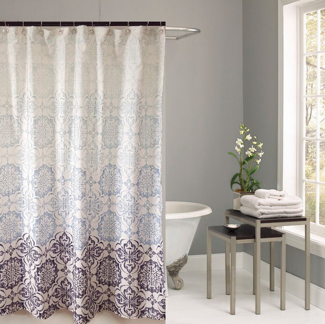 100% Polyester Fabric Shower Curtains printing design home ...