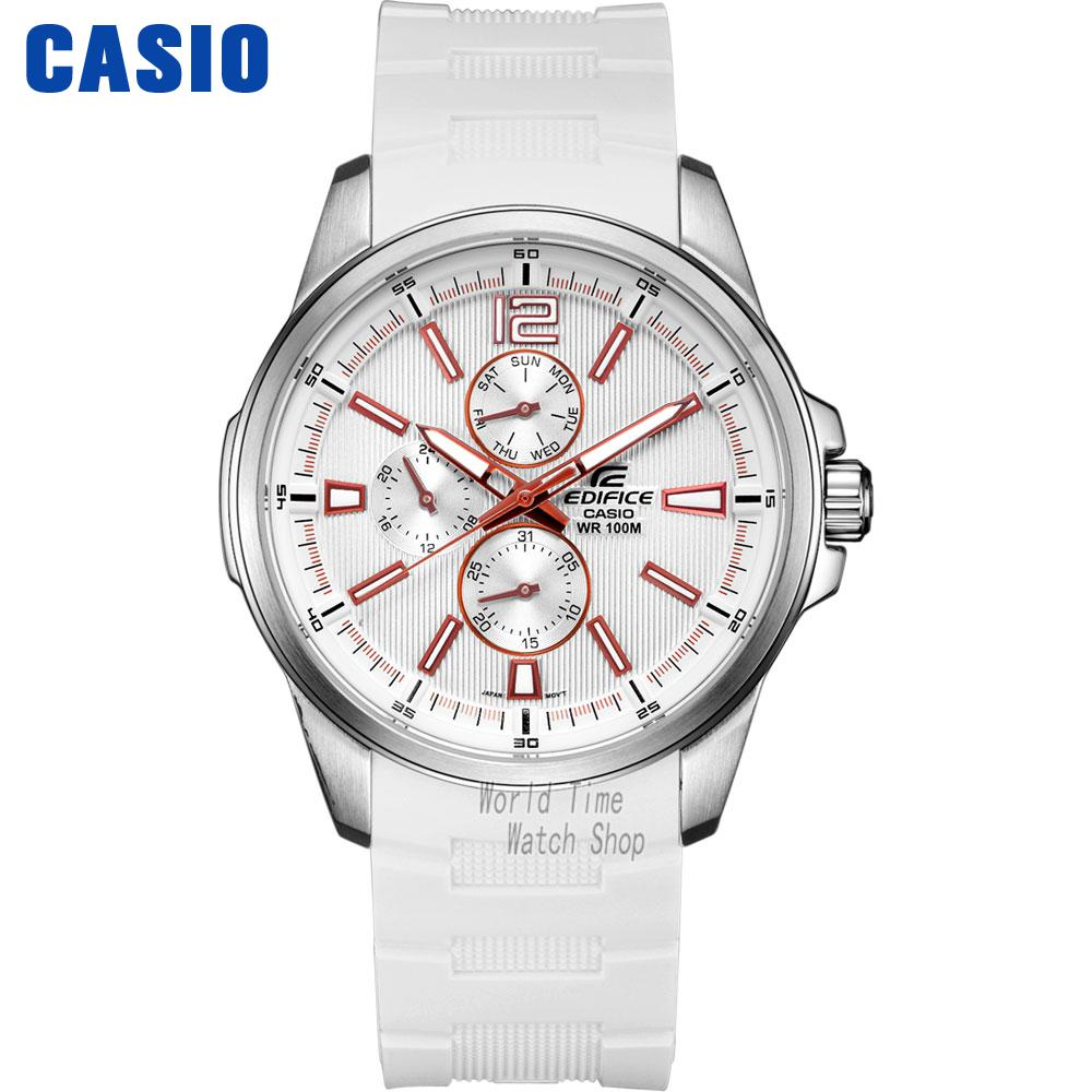 Casio watch Sports business fashion male watch EF-343-7A ir 4beams outdoor 20m infrared barrier detector home yard door alarm for my gsm alarm system