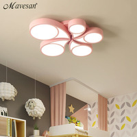 Kids colorful LED led acrylic ceiling lights lamp for 8 15square meters flower flush mount led luminaria abajur for beadroom