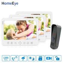 купить HomeEye 7inch Video Door Phone Video Intercom Doorbell 1200TVL Waterproof Support Video Record Unlock Door 1 to 3 Access System по цене 16487.96 рублей