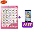 ロシアアルファベット数ワード表音チャートおもちゃ、ロシア子供 ABC 123 学習機、幼児教育と無料ギフト
