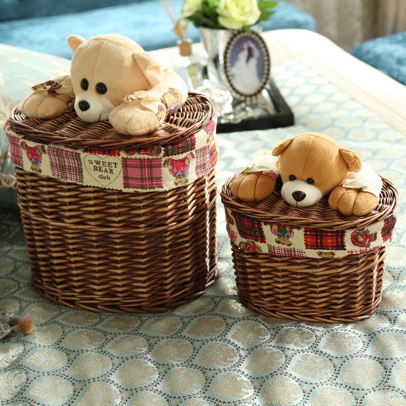 Малый и Большой ротанга медведь ведро - Организация и хранения в доме - Фотография 6