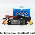 Câmera de Visão traseira Para Toyota RAV4 RAV-4 RAV 4 2005 ~ 2012 (Roda sobressalente Na Porta)/RCA Com Fio Ou Sem Fio HD CCD Da Câmera de Visão Noturna