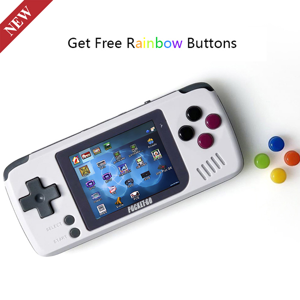 BITTBOY PocketGo Retro Game Console Handheld Game Players Portable Mini Game Open
