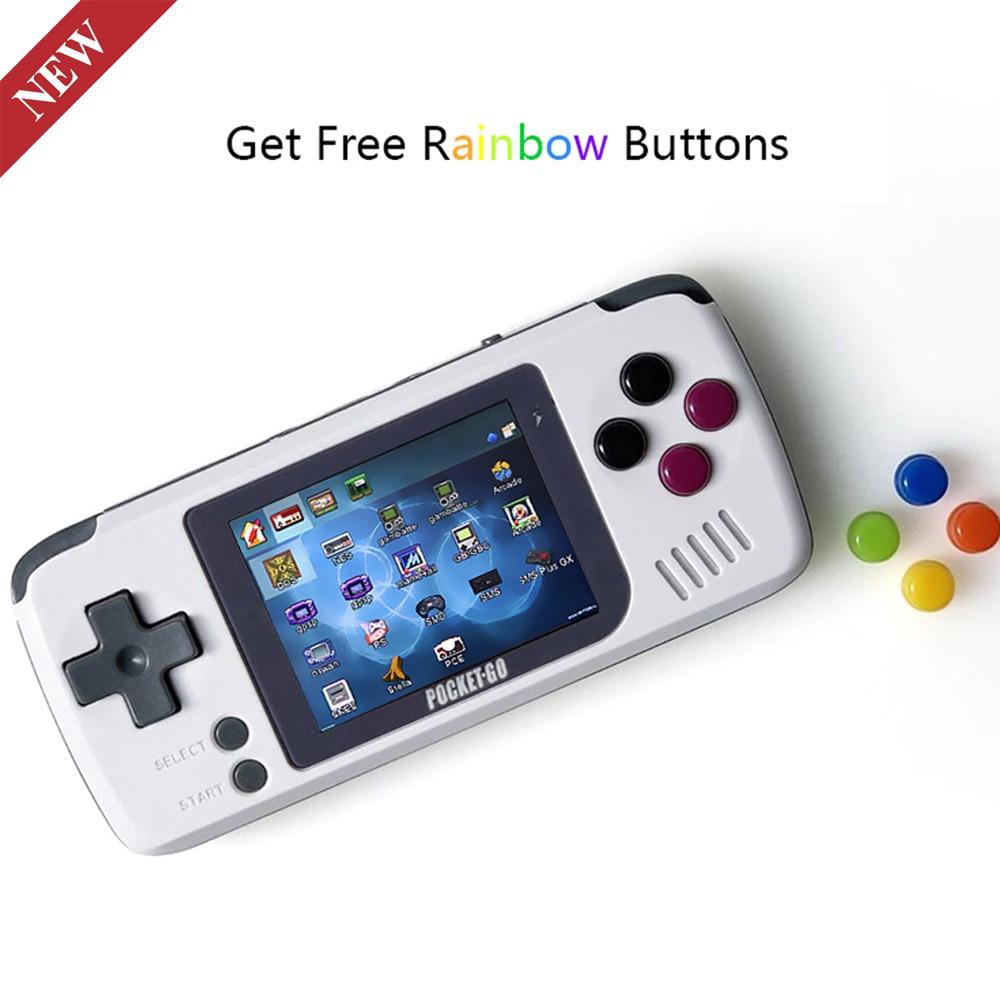 PocketGo, Retro Console Do Jogo do jogo, jogo Handheld jogadores, consola de jogos de Vídeo. Portátil Mini Handheld Console, 1000 mAh Da Bateria