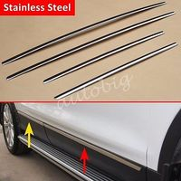 Stainless Steel Door Body Side Molding Trim Cover FOR Ford Escape Kuga 2013 2016