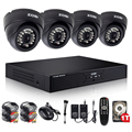 ZOSI 8CH CCTV System 8CH Network DVR 4PCS 900TVL IR Weatherproof Home Security Camera System Surveillance Kits