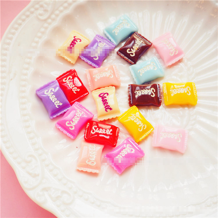 10PCS Slime Charms Candy Sweet Sugar Resin Flatback Slime Accessories Beads Making Supplies For DIY Scrapbooking Crafts