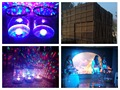 5pcs/lot, Colorful Flower LED Magic Ball Transparent LED Water Drum Sound Active with Drum Stick