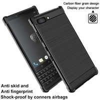 IMAK pour BlackBerry Key2 étui en Fiber de carbone Vega antichoc Conners souple TPU étui arrière pour BlackBerry Keytwo